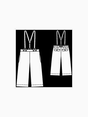 Wykrój burda spodnie z szelkami nr 140