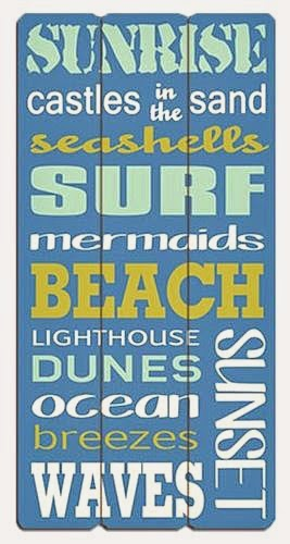 Blue Beach Retro Sign Typography