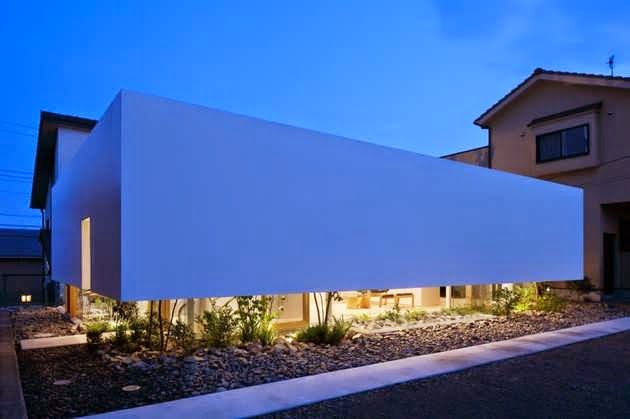 112) Cool Japanese House Dubbed Green Edge Design with Floating ...