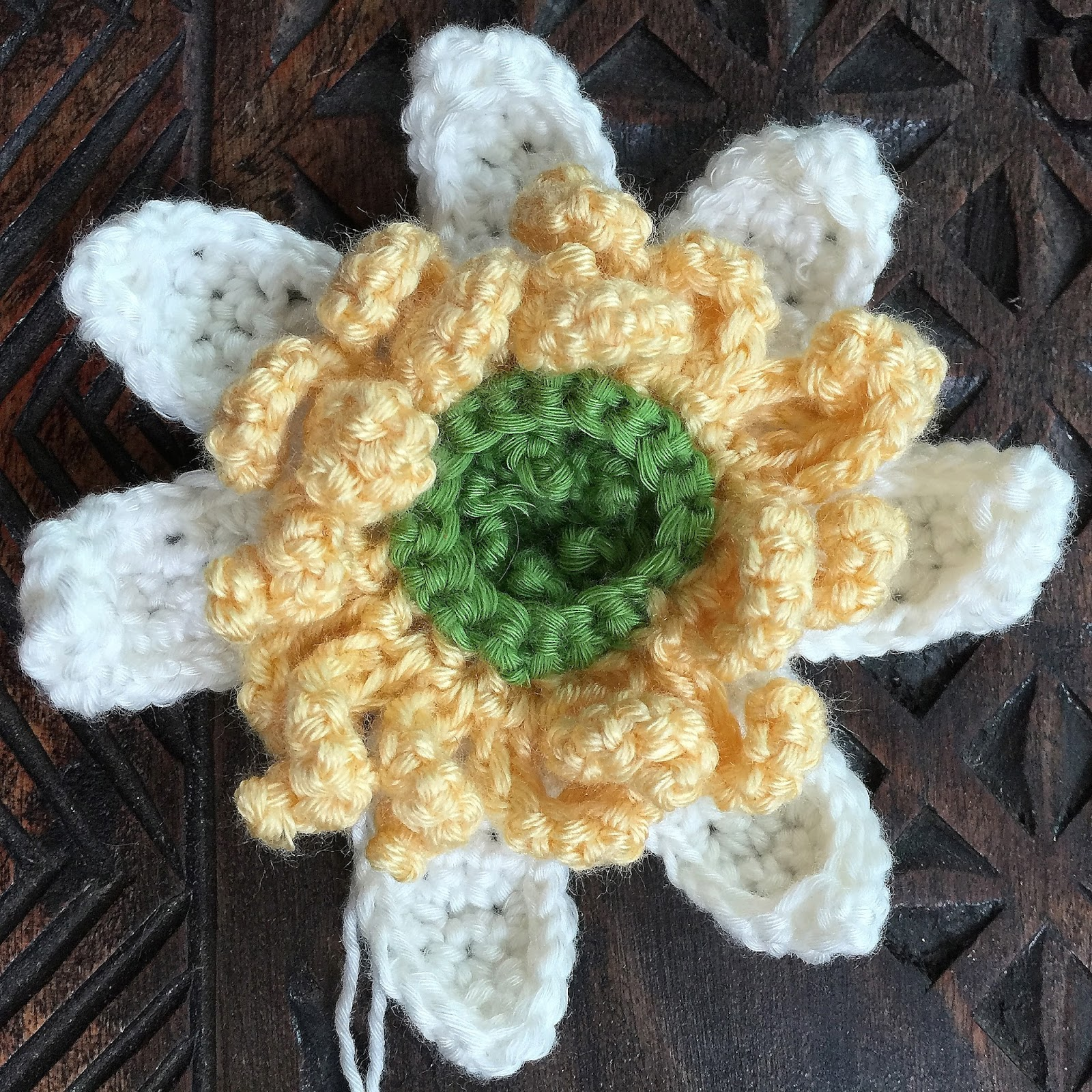 Crochet rockstar lotus crochet flower photo tutorial note i made mistake on the number of sc in mine so i had 7 instead of 6 do not repeat my mistake i was too lazy to frog my works lol izmirmasajfo Gallery