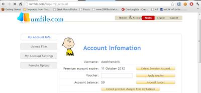 Lumfile Premium Account 24 september 2012 With Proof