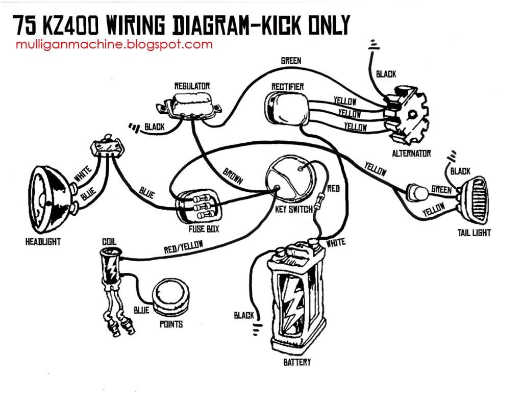 kz400 wiring kickonlycopy kz400 wiring diagram 1983 kawasaki motorcycle wiring diagrams  at bakdesigns.co