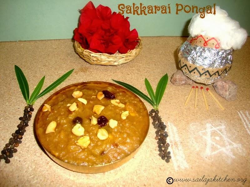 images for Sakkarai Pongal / Sarkarai Pongal Recipe / Sweet Rice Pongal Recipe / Chakkarai Pongal recipe