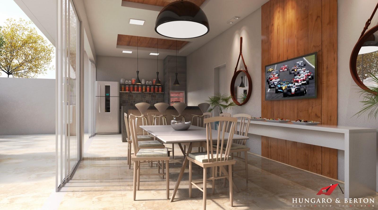 Arquitetura e Interiores: Cozinha Integrada Área de Lazer #986234 1600 888