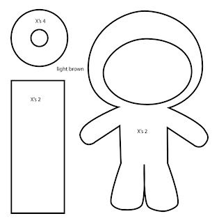 tokidoki Donutella felt plush template with Bubs B4Astudios