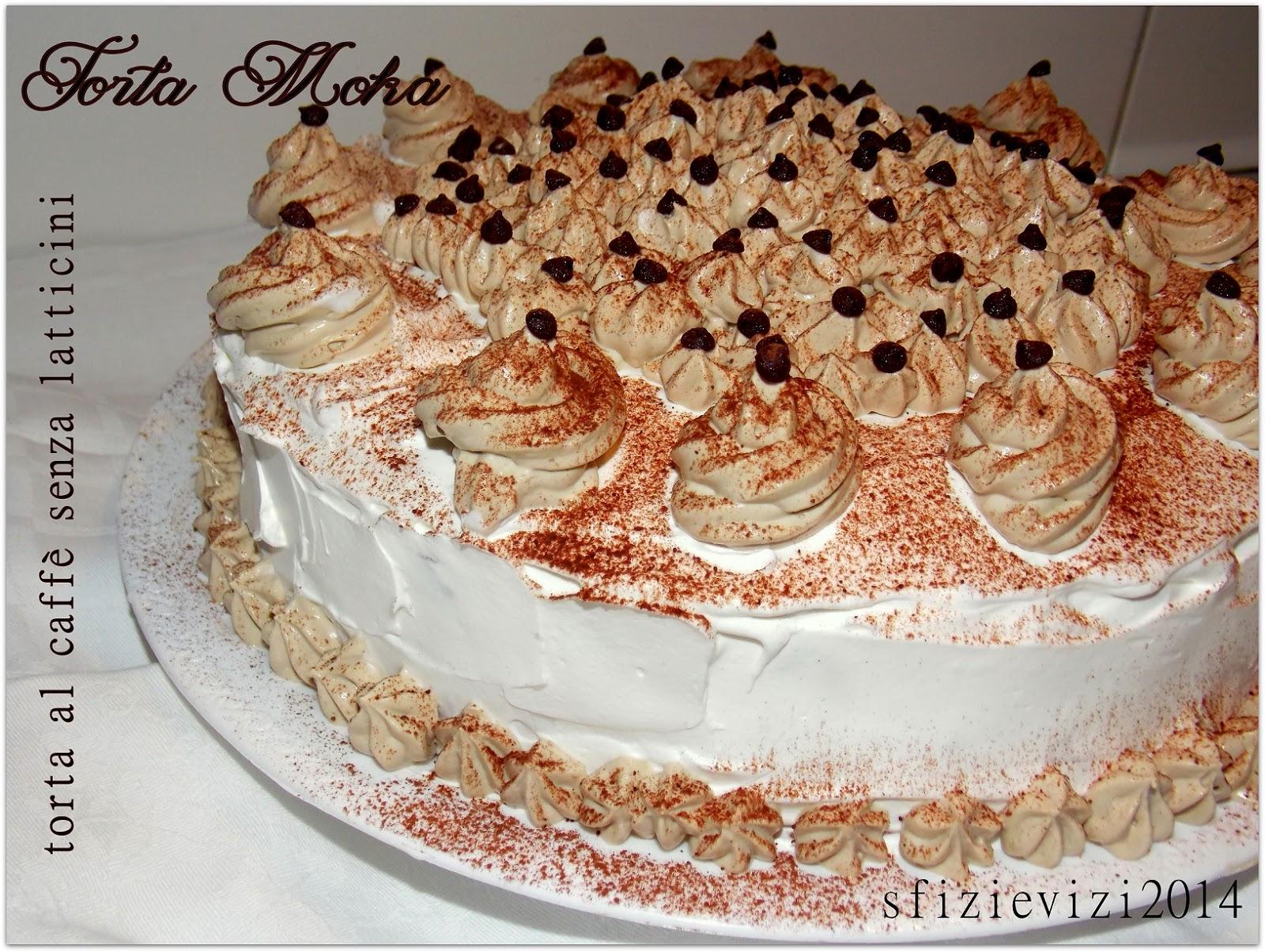 torta moka al caffè ovvero torta di compleanno con crema chantilly al caffè, ricetta senza latticini -