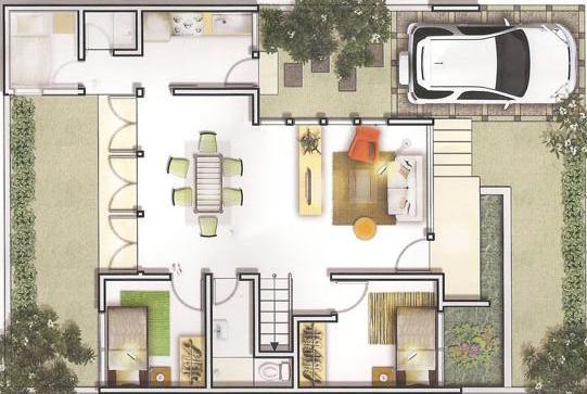 denah rumah minimalis tipe 45 terbaru gambar rumah minimalis
