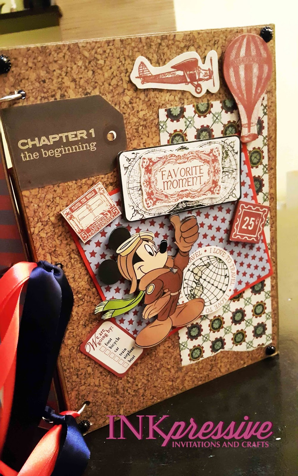 Mickey Mouse Travel Scrapbook And Guestbook Album Kiddie Invitations