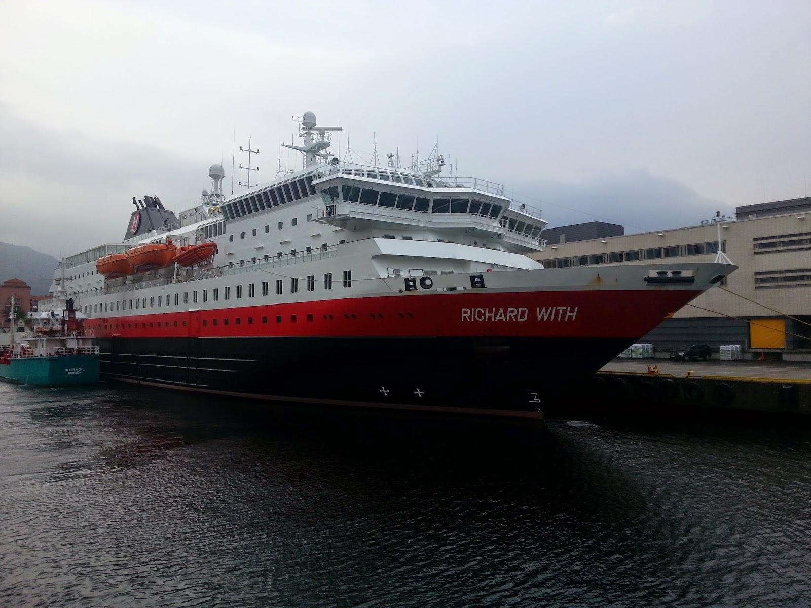 Hurtigruten MS Richard With in Bergen, Norway