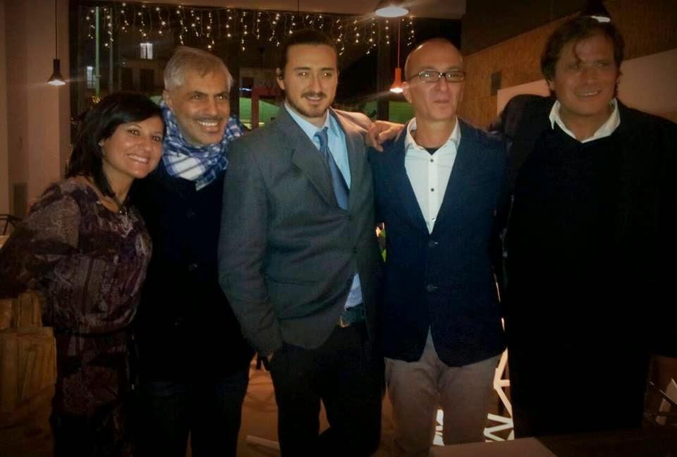 """Antonio Trillicoso Con Tommaso Travaglino autore del libro """"La Scuola Bocciata"""" presentato il 10 Dicembre presso il Nemea Art Cafè del Nemea Energy Village"""