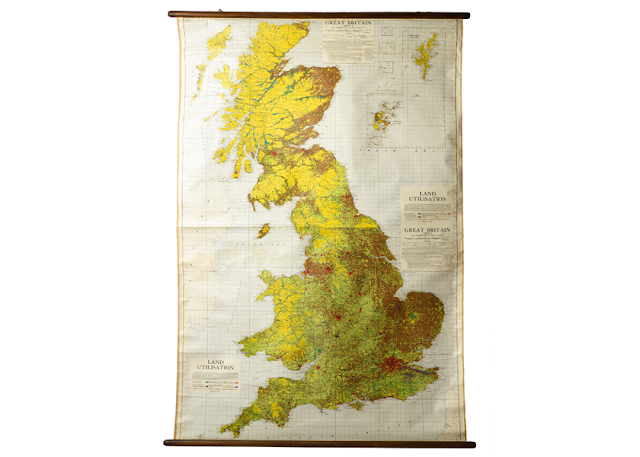 Antique University Map of Great Britain