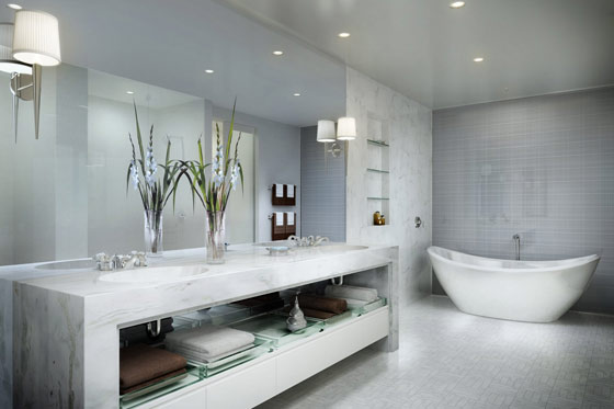 Salle De Bain Gris Argent : Luxury Bathroom Design Ideas