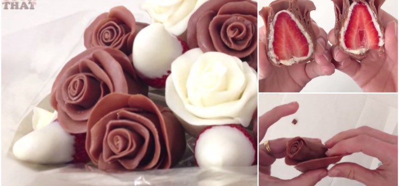 How to Make Beautiful Chocolate Strawberry Roses