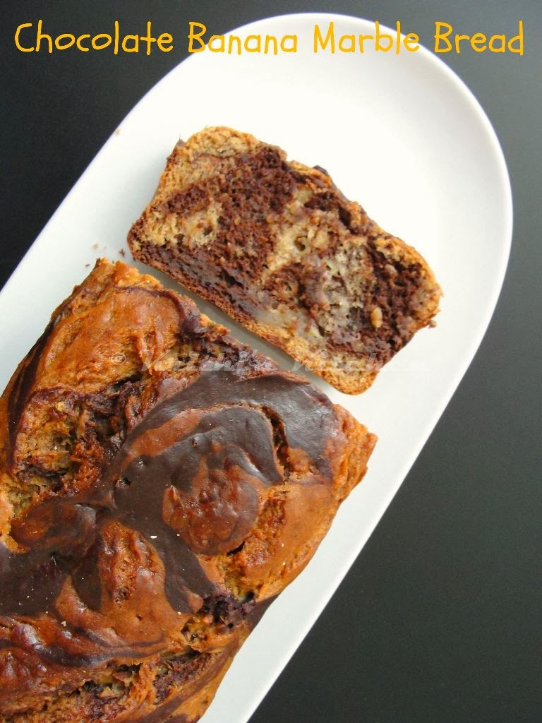 ... Chocolate Banana Marble Bread - Eggless | Muffins and Quick Bread