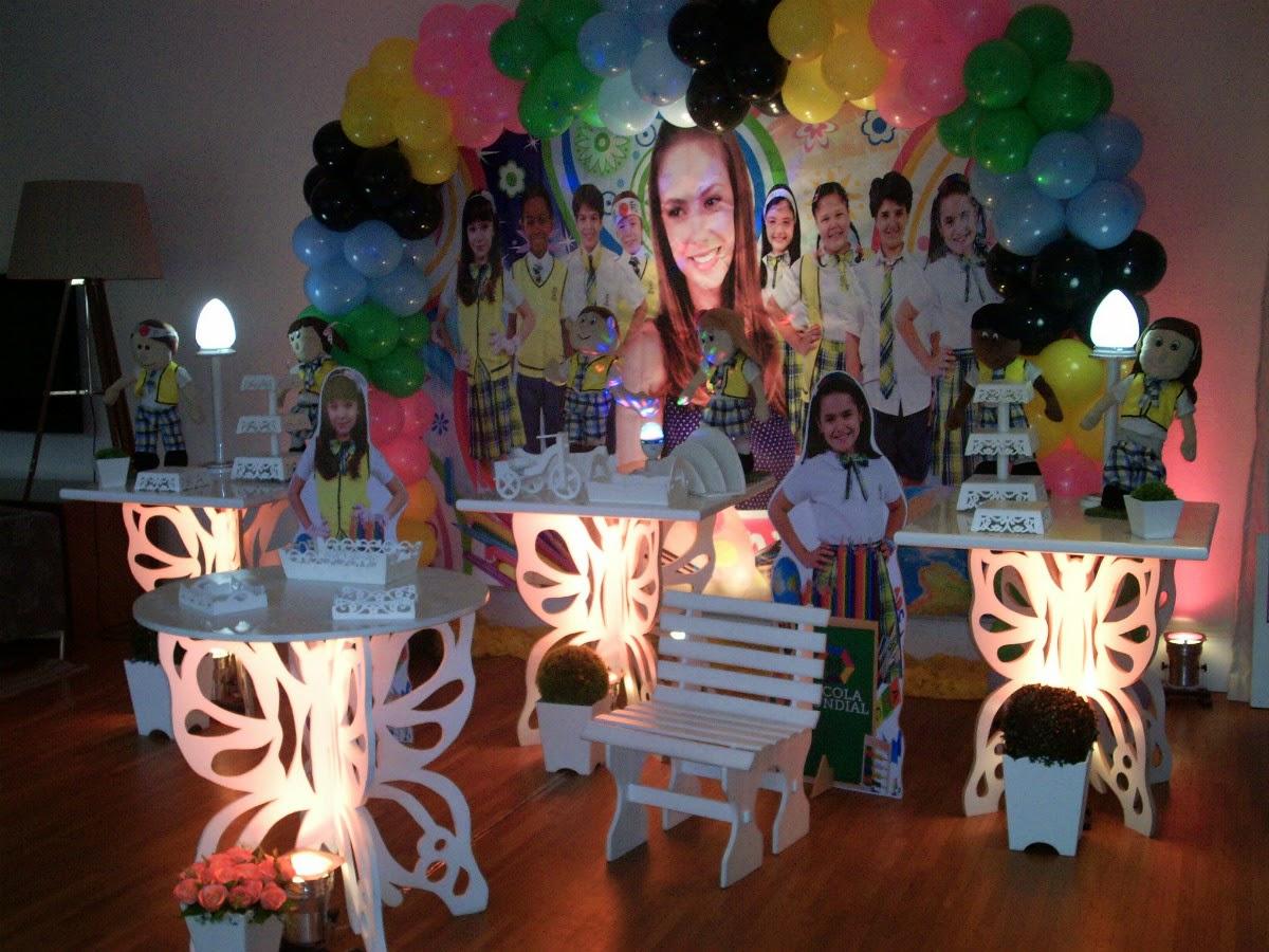 mesa temática provençal com tema Carrocel - mesa decorada de festa infantil