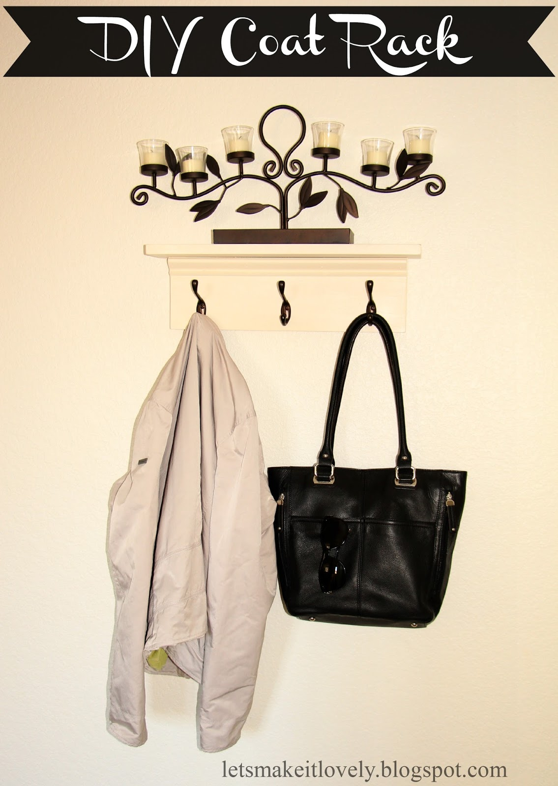 DIY Entryway Coat Rack
