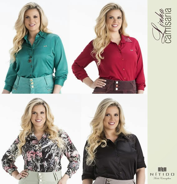 Linha de camisaria e de blusas da Nítido Moda Evangélica