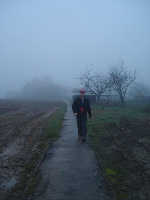 door de mist rond Mazenzele