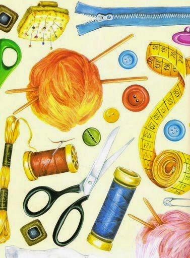 láminas para découpage - costura