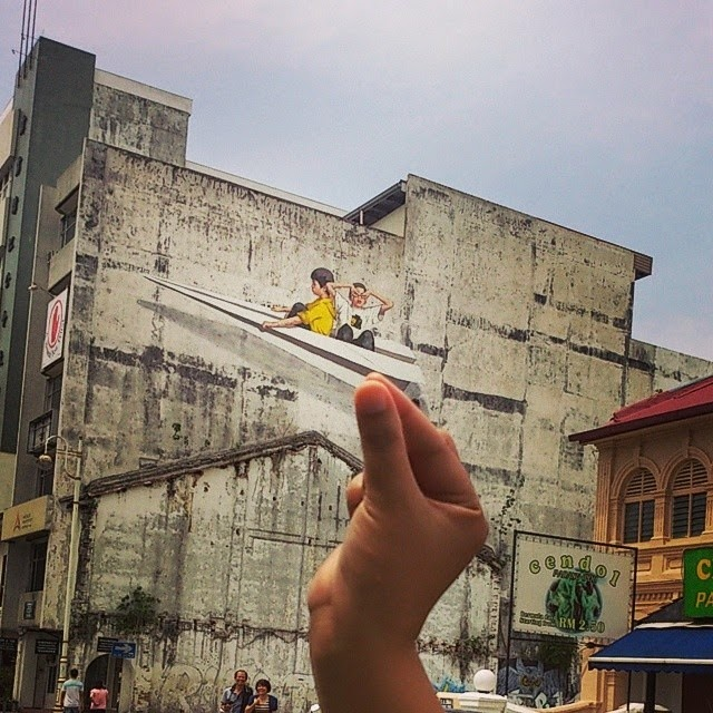 Ernest zacharevic new murals ipoh malaysia for 7 mural ipoh