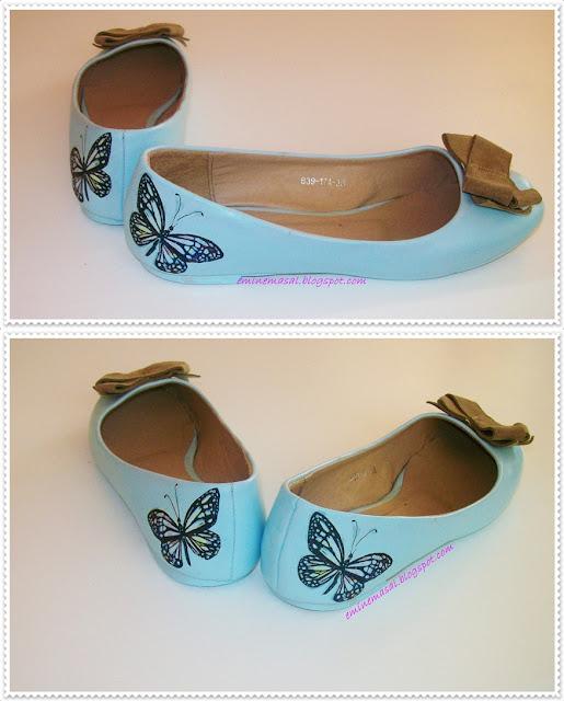 babet boyama,ayakkabı boyama,ayakkabı yenileme,masalsı,babet yenileme,dekupaj,hobi,dıy,ayakkabı modifiy