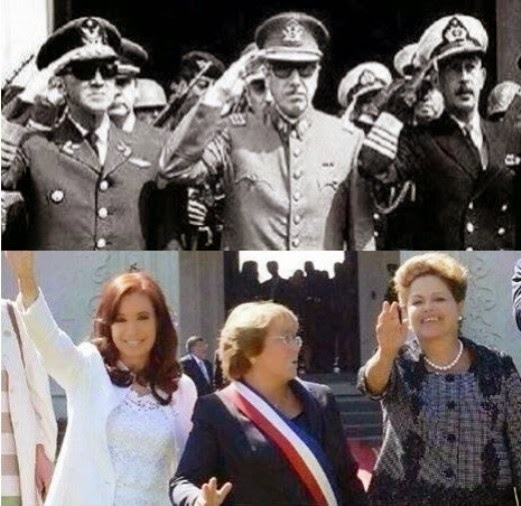 Presidents Of Argentina, Brazil And Chile In The 70s Vs Today