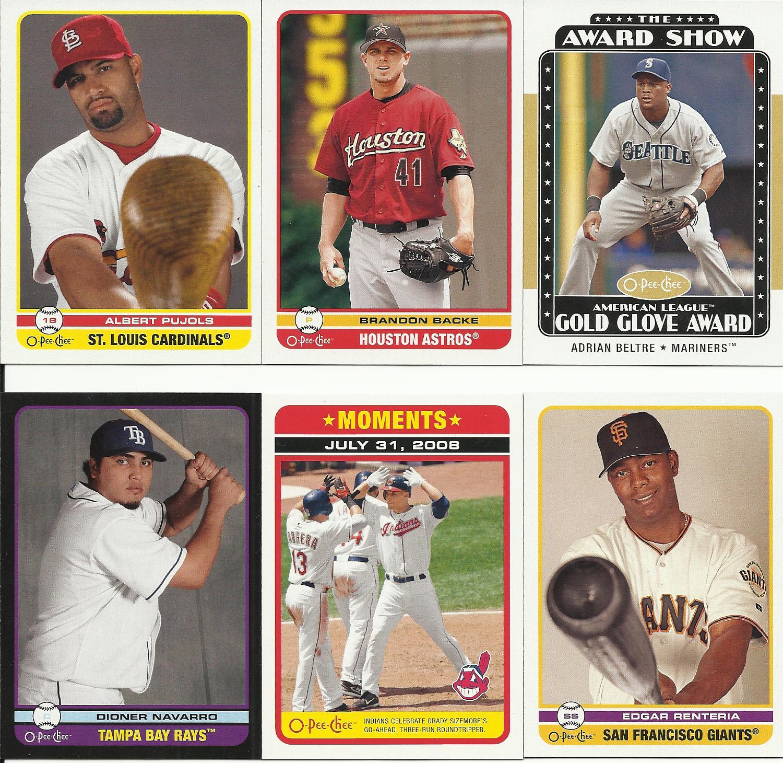 Indians Baseball Cards 182 Packs Of