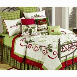 King Size Quilt, HOLIDAY GARLAND