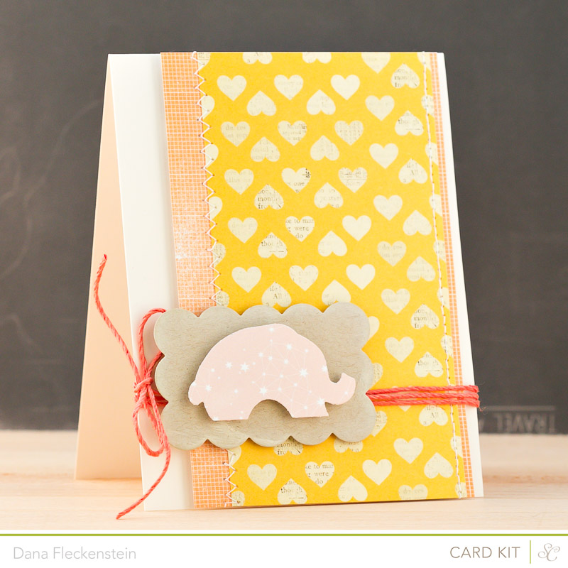 Handmade Baby Girl Card by @pixnglue using Studio Calico Planetarium Kit