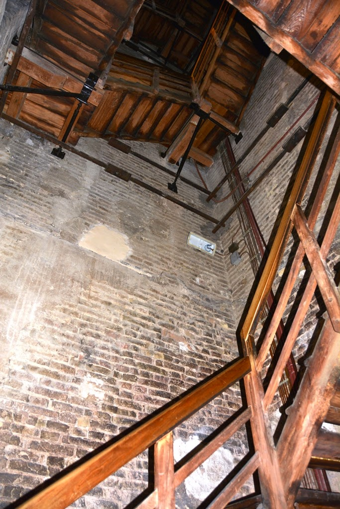 Asinelli Tower Bologna wooden stairs