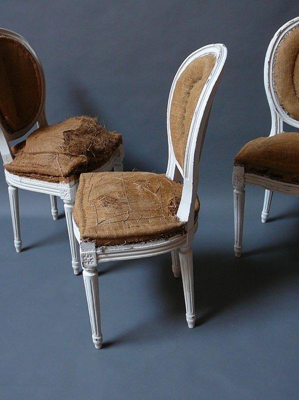 sillas antiguas luis XVI pintada de blanco