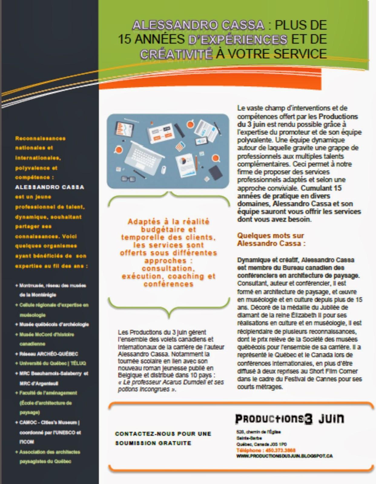 Productions du 3 juin (conférences Alessandro Cassa) page 3
