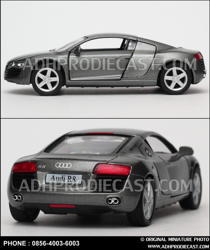 Diecast Miniatur Mobil Audi R8 (Grey)