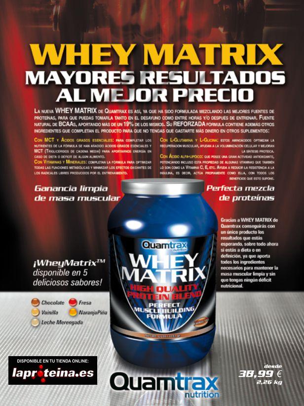 SUPLEMENTOS DEPORTIVOS: WHEY MATRIX 2,27 KG