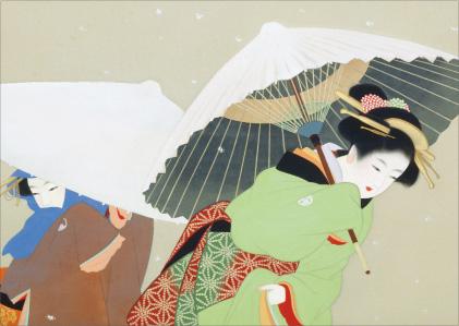 上村松園 「牡丹雪」