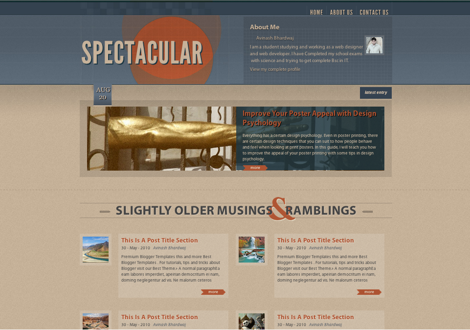 Spectacular blogger template