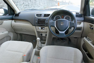 New Maruti Swift Dzire Zdi steering and interior view