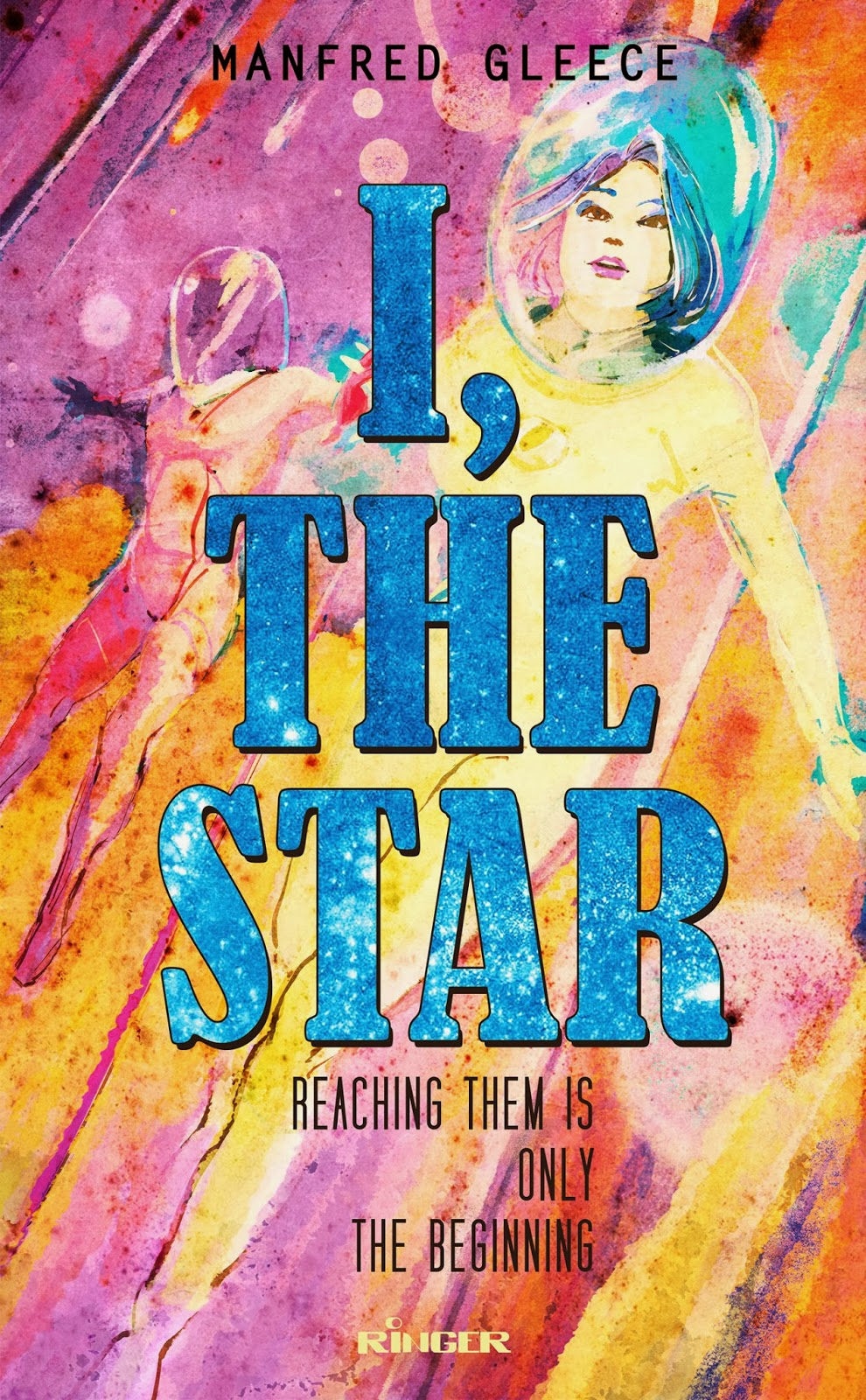 Ringer Publishing Paperbacks - I The Star cover - Curio & Co. www.curioandco.com - Illustration and Design by Cesare Asaro