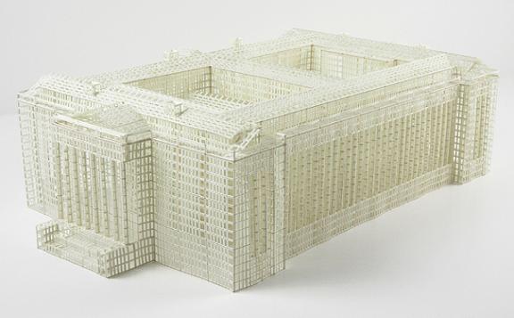 jill sylvia estruturas 3d prédios edifícios papel recortado arquitetura
