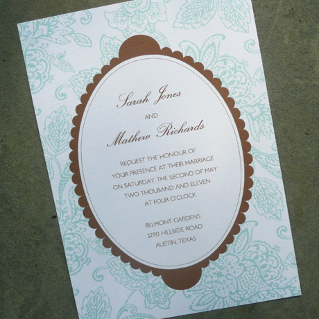 Download and Print Floral Wedding InvitationsEasy DIY Project
