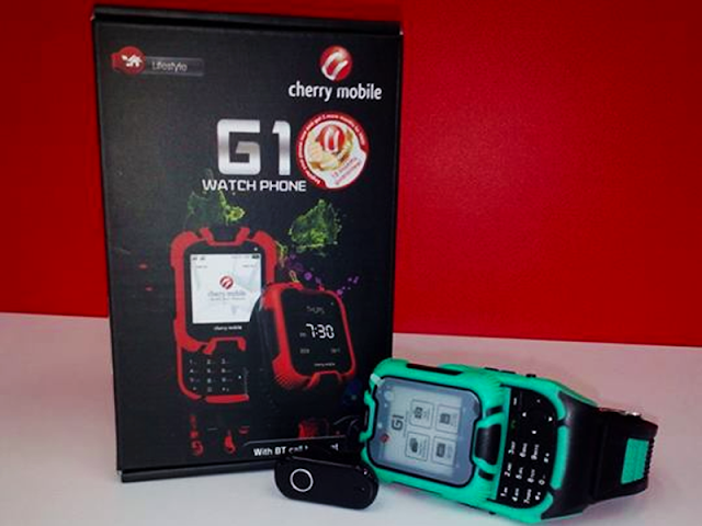 Cherry Mobile G1 Watch Phone in stores for only PHP1,699 this 2014!
