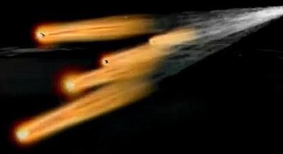 Phobos-Grunt Probe Crashing Into Ocean