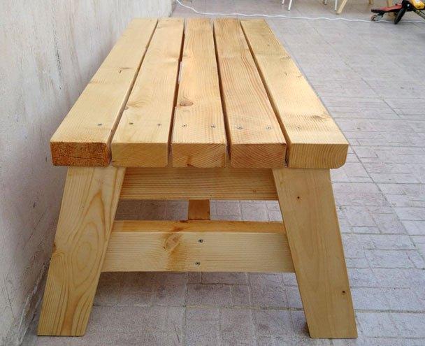 2 x 4 Bench W/O Back