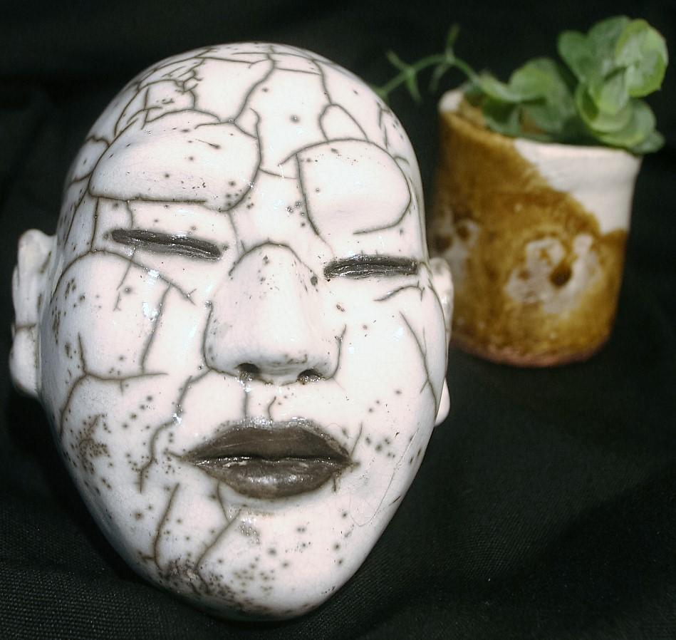 tête porcelaine papier