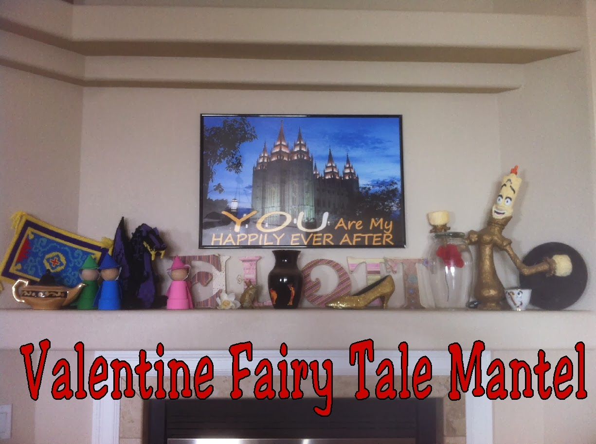 Check out this fun DIY Valentine Fairy Tale Mantel from Kims Kandy Kreations.  Puts me in a Happily Ever After mood this Valentine's day.