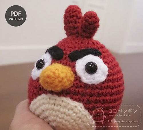 Amigurumi Patterns Free Bird : 2000 Free Amigurumi Patterns: Angry Birds: the Red Bird