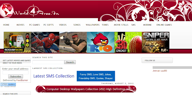 movies. You can also download full PC software, Games, movie trailers