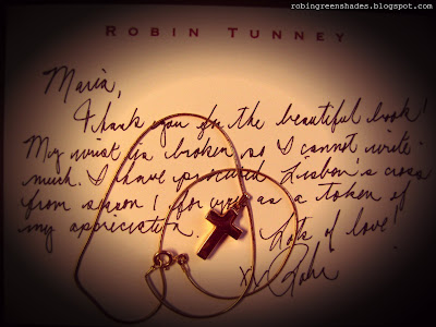 ROBIN'S MESSAGE FOR THE FANS' BOOK!