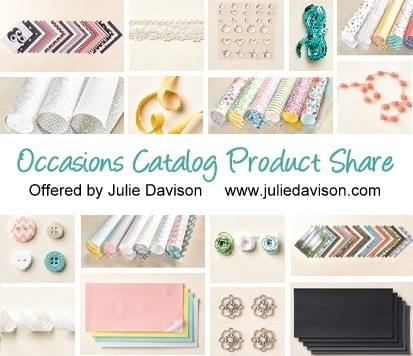 2015 Stampin' Up! Occasions Catalog Product Share offered by Julie Davison www.juliedavison.com