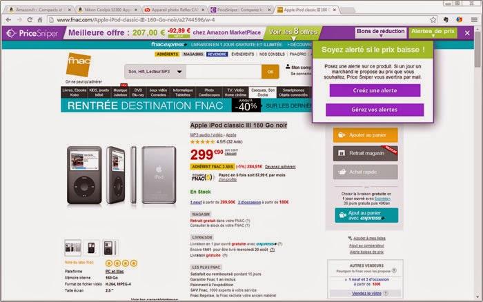 Comparez GRATUITEMENT les prix sans interrompre votre shopping